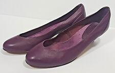 9 WEST Womens 9M Leather Shoes H NORA Vtg Dressy Plum Purple Violet Pumps Heels