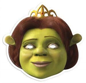 Princess Fiona from Shrek Single Card Party Fun Face Mask - Cameron Diaz
