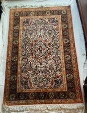 Antique Indian Silk Oriental Handmade Area Rug (4ftx6ft)