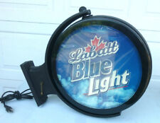 "Labatts Beer Double Sided Motion Spinning Light Up Bar Sign - 23""w x 21""h"