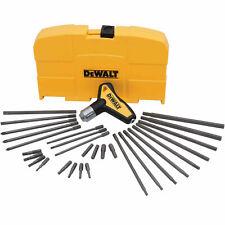 Dewalt DWHT70265 31 Piece Ratcheting T-Handle Hex Key Set NEW