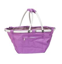 Collapsible Folding Basket In Purple BNWT (Laundry, Hamper, Shopping, Storage)