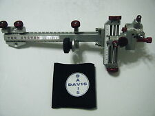 "4"" DAVIS TARGET SIGHT- Double knob mount -Silver/Red knobs-scope .010 red."