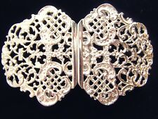 HALLMARKED SILVER NURSE BUCKLE.  BRAND NEW SILVER BUCKLE TRADITIONAL DESIGN