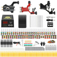 Solong Tattoo 3 Pro Rotary Tattoo Machine Kit 54 Inks Set LCD Power Supply TK355