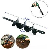 Power Garden Spiral Plant Auger Earth Planter Drill Hole Digger Post Tool Q2P6