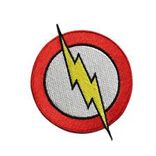 """Patch Flash Lightning Bolt Logo Hero DC Comic LARGE 12.5/"""" Back Iron On #57014"""
