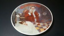 1986 Knowles Norman Rockwell Deer Santy Claus Plate Pl2