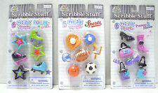 Scribble Stuff Puzzle Erasers Roller Girl 6 pk. Sports 5 pk. Purses & Shoes 6 pk