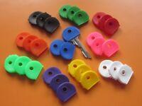 Schlüssel 1-8 Stück Schlüsselkennringe Kappe eckig 8 Farben Schlüsselkennring
