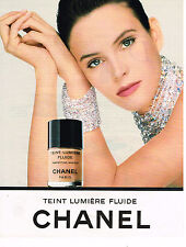 PUBLICITE ADVERTISING 025  1992  CHANEL  cosmétiques  TEINT LUMIERE FLUIDE