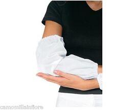 Manichette Per Cucina Cuoco Ristorazione Mense Proteggi Braccia Cotone Bianche