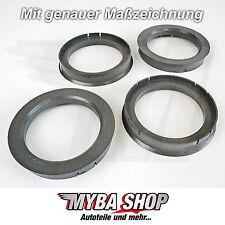 4x anillas de centrado 72,6 mm - 56,1 mm de diámetro #neu #