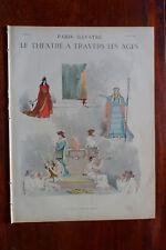 revue Paris-Illustré mars 1886 n° spéc.THEATRE à travers LES AGES Eug. GRASSET