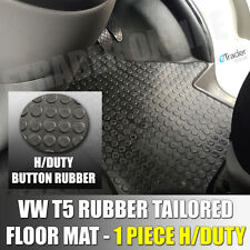 Heavy-Duty Rubber Floor Mat VW T5 T6 Double Front Tailored Fit 1 PC Quality Mats