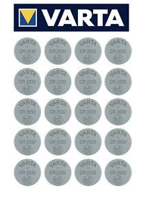 20 x Varta CR2032 DL2032 BR 2032 Knopfzellen Batterien Baterien NEU * aus 2021 *