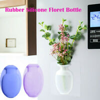 Magic Rubber Silicone Floret Bottle Sticky Flower Wall Hanging Vase Home Decor