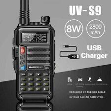 BaoFeng Uv-S9 8W Dual Band Vhf Uhf Walkie Talkie Ham Two Way Radio & Usb Cable