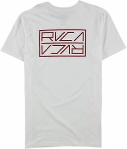 RVCA Mens Logo Basic T-Shirt, White, Medium