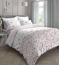 Dreams & Drapes Evie Floral Easy Care Reversible Duvet Cover Bedroom Set Pink