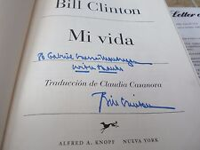 President Bill Clinton My Life SPANISH Signed Autographed Book PSA Certified