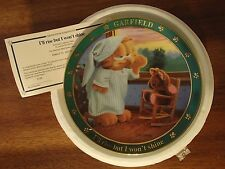 """Set of 7 1978 Danbury Mint """" A Day With Garfield"""" plates with Coa"""
