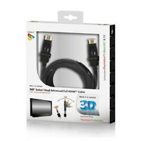 GENUINE PLAYFECT 360 SWIVEL HEAD ADVANCED HDMI CABLE FOR PS3 XBOX 360 PFT73850