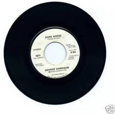 """George Harrison - Dark Horse - Apple White Label 7"""" 45"""