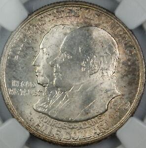 1923-S Monroe Commemorative Silver Half Dollar, NGC MS-65, Toned