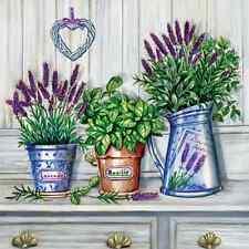 20 Paper Napkins PROVENCE FRAGRANT Decoration DECOUPAGE Violet Lavender 33x33cm