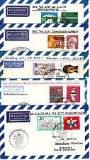 Flugpost, 10 x Lufthansa,nach Bukarest,Oslo,New York,Algier,Top Erhaltung s.Scan