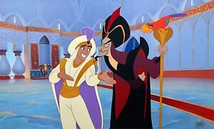 disney aladdin abu jafar cel deception rare animation art limited edition cell