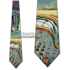 Salvador Dali Ties Persistence of Memory Necktie Melting Clocks Mens Neck Tie Br