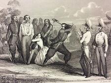 Massacre de la Gallicie 1846 estampe de 1847 Pologne POLSKA