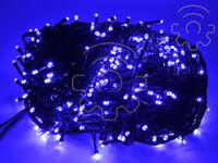 Serie 100 luci di Natale a led blu 9 mt catena 8 giochi per esterno e interno