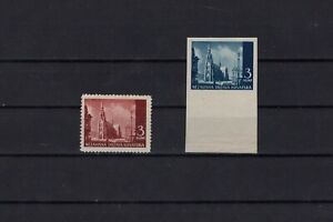 Croatia ww2 - normal stamp and imperforated color proof  RR !