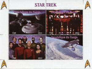 Star Trek Stamps 2013 MNH TNG The Next Generation Picard Riker Worf 4v M/S