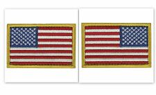 USA AMERICAN FLAG TACTICAL PATCH Set of 2 US ARMY BADGE FULL COLOR HOOK & LOOP
