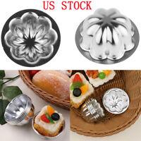 5Pc Aluminum Flower Egg Tart Mold Candy Cake Muffin Baking Cup Tartlets Pan Tool