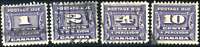 Canada #J11-J14 used F/VF 1933-1934 Third Postage Due Issue Set CV$29.45