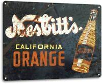 Nesbitt's Orange Vintage Rustic Retro Tin Metal Sign