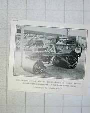 1905 Petrol Engine Motor Roller Exhibited Park Royal Show