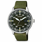 Citizen Mens Solar Green Nylon Watch - BM7390-22X NEW