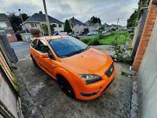 Electric orange Ford Focus ST3