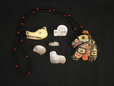 Group of 6 pieces of Northwest Coast Jewelry, Native American Indian