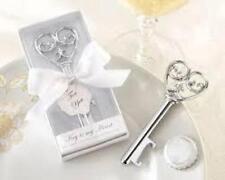 Wedding Bomboniere & Favours - Bottle Opener Key To My Heart - Silver