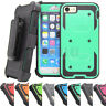 Shockproof Hybrid Rugged Hard Armor Holster Case Stand Cover For iPhone 7 8 Plus