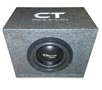 """CT Sounds Single Tropo 10"""" inch 600W RMS Subwoofer Bass Package with Ported Box"""