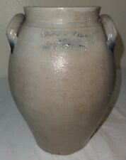 Antique Ovoid Stoneware Jar by Goodwin & Webster, Hartford, Conn.