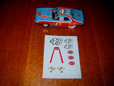 TYCO Petty Charger decal set nice! AFX Aurora Auto World